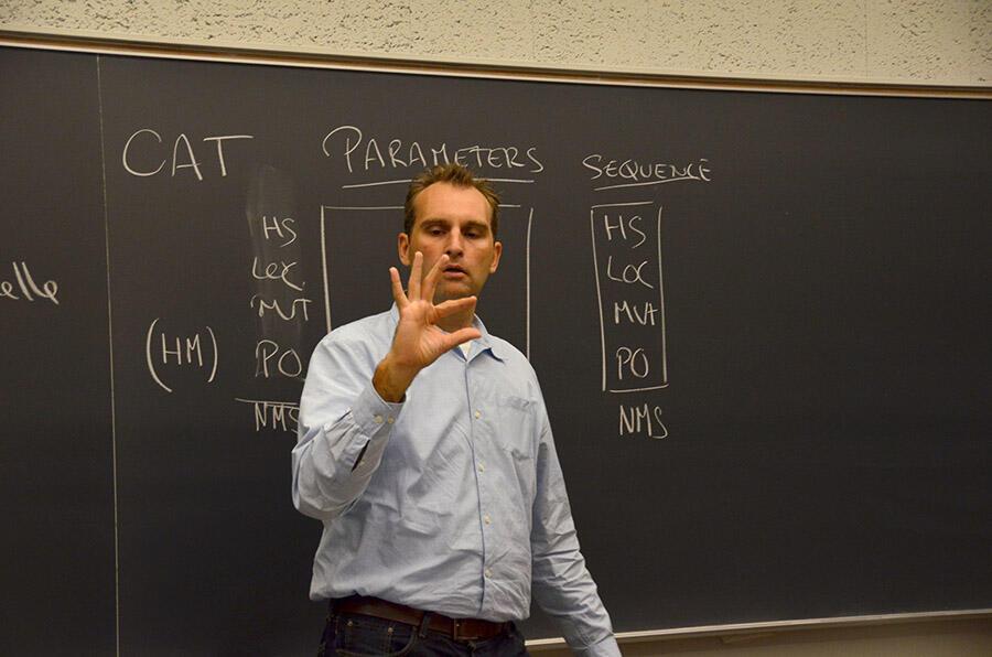 Berkeley's first sign language course - Professor Patrick Boudreault